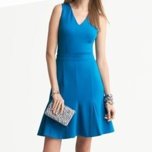 Banana Republic Bright Teal Shift Dress Size 4